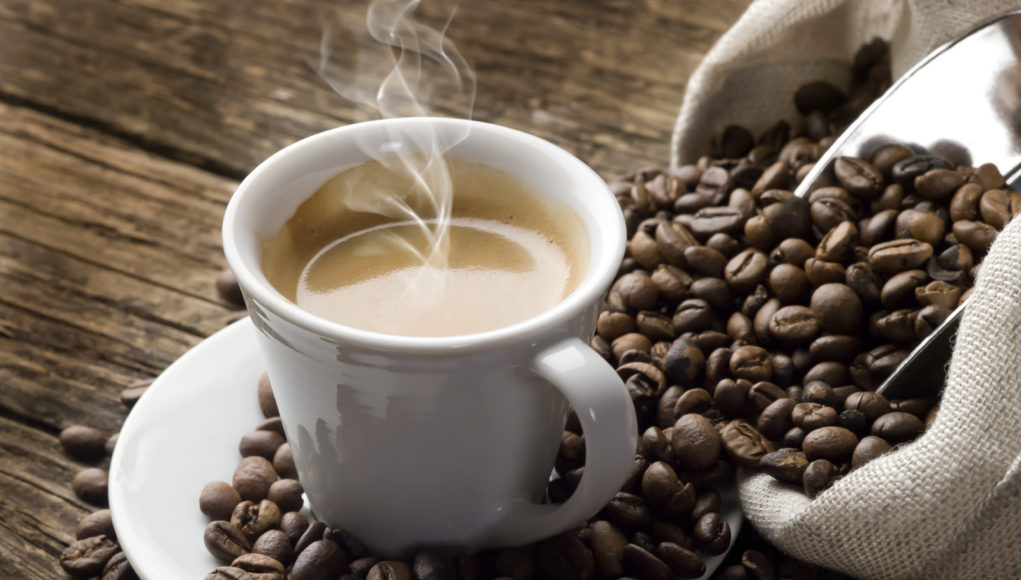 Amount of caffeine in brewed coffee