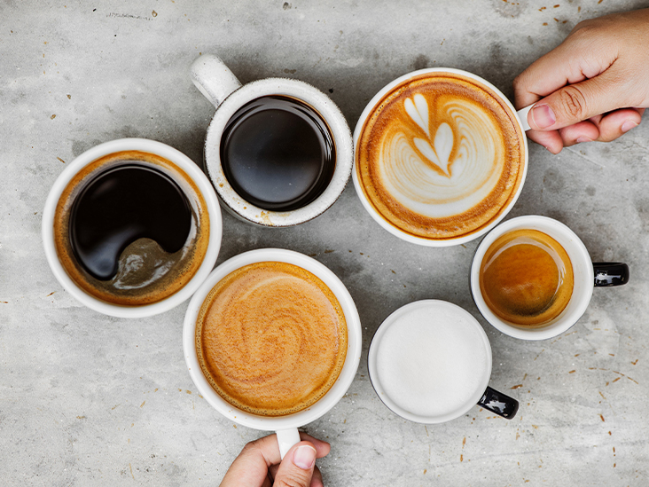 What determines the amount of caffeine in a cup of coffee?